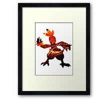 Combusken used Fire Spin Framed Print
