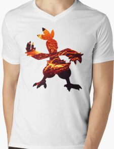 Combusken used Fire Spin Mens V-Neck T-Shirt