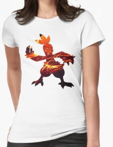Combusken used Fire Spin Womens Fitted T-Shirt