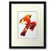 Blaziken used Blaze Kick Framed Print