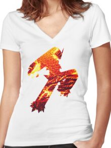 Blaziken used Blaze Kick Women's Fitted V-Neck T-Shirt