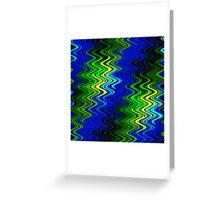 WAVY-2 (Blues, Greens & Yellows)-(9000 x 9000 px) Greeting Card
