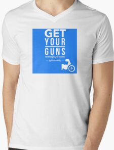Get Your Guns Out Mens V-Neck T-Shirt