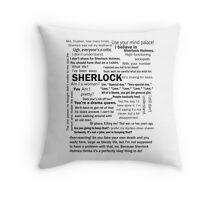 Sherlock Season 3 Quotes Throw Pillow