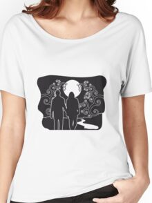 full moon liebespaar river Women's Relaxed Fit T-Shirt