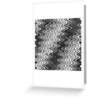 WAVY-2 (Grays & White)-(9000 x 9000 px) Greeting Card