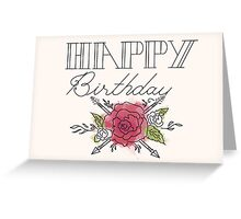 Happy Birthday Rose: Paint Greeting Card