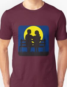 full moon liebespaar Bank Unisex T-Shirt