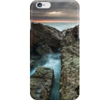 Norah heads sunrise with storm clouds iPhone Case/Skin