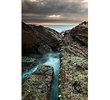 Norah heads sunrise with storm clouds Photographic Print
