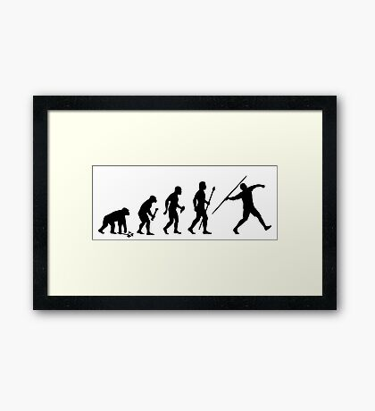 Funny Evolution Of Javelin Framed Print