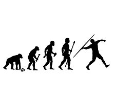 Funny Evolution Of Javelin Photographic Print