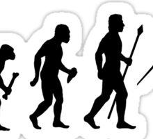 Funny Evolution Of Javelin Sticker