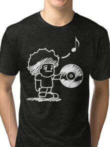SOULective Listening Lounge Tee - 012 White GRAPHIC Tri-blend T-Shirt