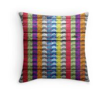 Funny Mustache on Wood Texture #4 Throw Pillow