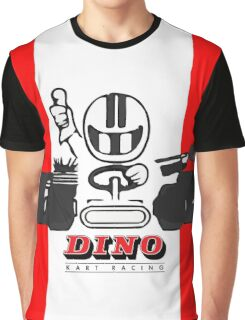 Vintage Kart Dino Graphic T-Shirt