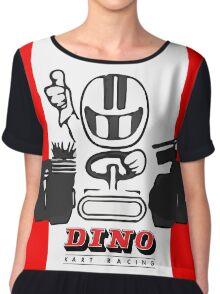 Vintage Kart Dino Chiffon Top
