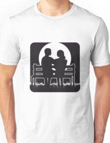 full moon liebespaar Bank Unisex T-Shirt