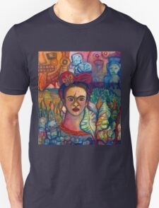 Frida Kahlo and Mexico Homage Original Watercolor by Candace Byington Unisex T-Shirt