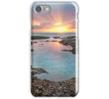 Frazer beach sunrise, sun streaks iPhone Case/Skin