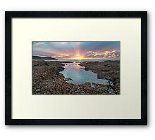 Frazer beach sunrise, sun streaks Framed Print