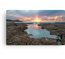 Frazer beach sunrise, sun streaks Canvas Print