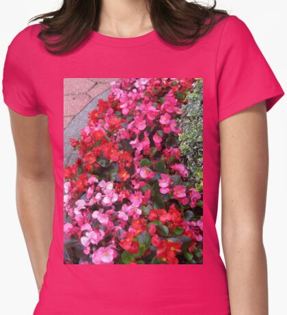 A Multitude of Begonias Womens Fitted T-Shirt