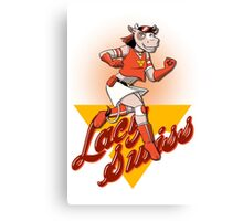 Lacy Swiss of The Bovine League Canvas Print