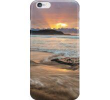 Frazer beach sunrise, moving water iPhone Case/Skin