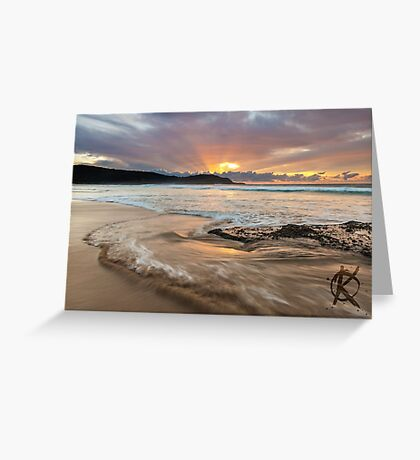 Frazer beach sunrise, moving water Greeting Card