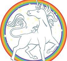 Sparkle Rainbow Unicorn by Veronica Guzzardi