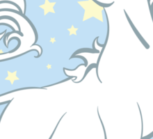 Sparkle Rainbow Unicorn Sticker