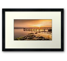 Jetty at Buff Point, sunset Framed Print