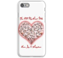 Love Joy & Happiness Pink Heart  iPhone Case/Skin