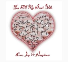 Love Joy & Happiness Pink Heart  Kids Clothes