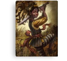 78 Tarot: Page of Swords Canvas Print