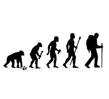 Evolution Of Hiking Photographic Print