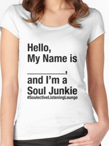 SOULective Listening Lounge Tee - 009 Black Type Women's Fitted Scoop T-Shirt