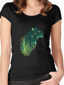 Space Tiger Women's Fitted Scoop T-Shirt