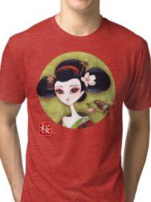 Sakura Girl Tri-blend T-Shirt