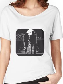 full moon art liebespaar Women's Relaxed Fit T-Shirt