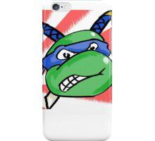 Ninja Turtle Leonardo - Flag! (blue) iPhone Case/Skin