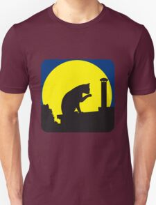 full moon cat roof Unisex T-Shirt