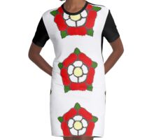 English Rose Graphic T-Shirt Dress