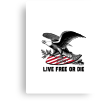 New Hampshire Live Free or Die Eagle & Shield Canvas Print