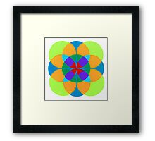 Circle Overlap Framed Print