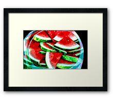 Watermelon Art Framed Print