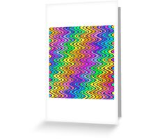 WAVY-2 (Multicolor Light)-(9000 x 9000 px) Greeting Card