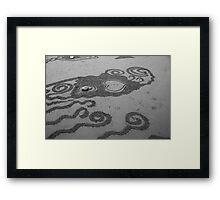 Heart in the sand Framed Print