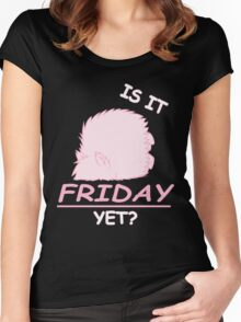 Fluffle Puff - Is It Friday Yet? Women's Fitted Scoop T-Shirt